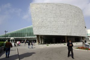 You can visit the modern  Library of Alexandria in Egypt and on http://www.alexandria.lib.va.us/client/en_US/home