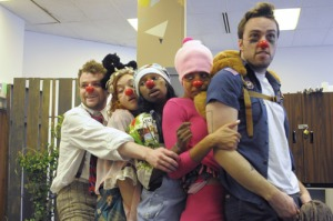The class of '12 in a clowning workshop.