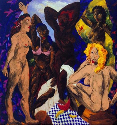Picasso señoritas de Alabama desnudas