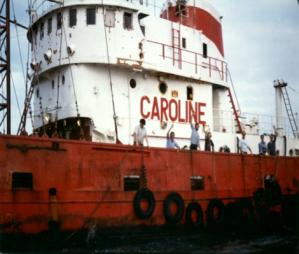 Radio Caroline offshore; source: www.radiocaroline.co.uk