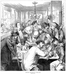 """Discussing the War in a Paris café,"" London Illustrated News, 17 September 1890 (Wikipedia)"