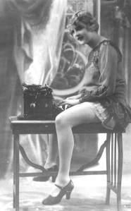 woman at typewriter 1920