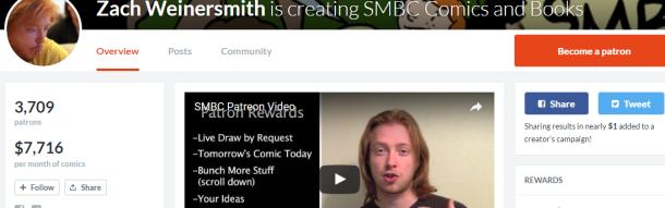 Zach Weinersmith's Patreon page