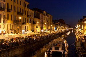 Navigli nightlife in Milan