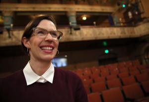 Lauren Gunderson is photographed at the SF Playhouse inside the Kensington Hotel on Polk Street in San Francisco, Calif., on Thursday, Feb. 27, 2014. http://www.mercurynews.com.
