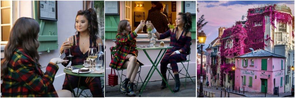 ©Monmentsofgregory Emily in Paris, Netflix et La Maison Rose